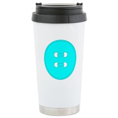 Cyan Button Travel Mug