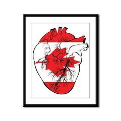Heart Canada Framed Panel Print