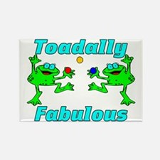 Toadally Fabulous Rectangle Magnet