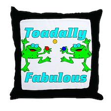 Toadally Fabulous Throw Pillow