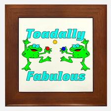 Toadally Fabulous Framed Tile