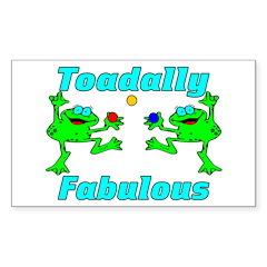 Toadally Fabulous Rectangle Sticker 10 pk)