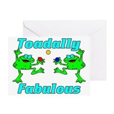 Toadally Fabulous Greeting Card
