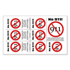 """No 911"" sticker for VOIP phones"