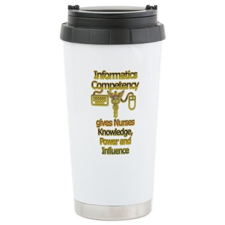 Informatics Competency Stainless Steel Travel Mug