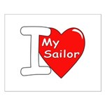 I Love My Sailor Small Poster