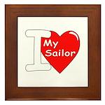 I Love My Sailor Framed Tile