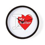 I Love My Sailor Wall Clock