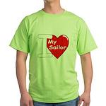 I Love My Sailor Green T-Shirt