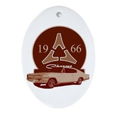 66 Charger Oval Ornament