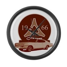 66 Charger Large Wall Clock