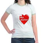 I Love My Sailor Jr. Ringer T-Shirt