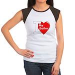 I Love My Sailor (Front) Women's Cap Sleeve T-Shir