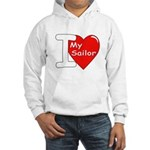 I Love My Sailor (Front) Hooded Sweatshirt