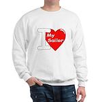 I Love My Sailor (Front) Sweatshirt