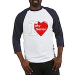 I Love My Sailor (Front) Baseball Jersey