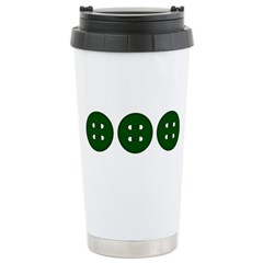 Green Buttons Stainless Steel Travel Mug