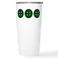 Green Buttons Travel Mug