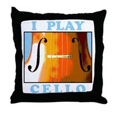 I Play Cello Throw Pillow