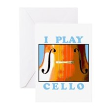 I Play Cello Greeting Cards (Pk of 10)