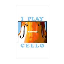 I Play Cello Rectangle Decal