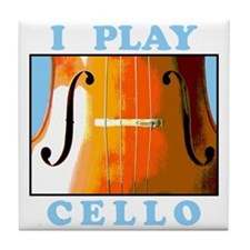 I Play Cello Tile Coaster
