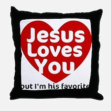 Jesus Loves You Throw Pillow