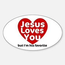 Jesus Loves You Oval Decal