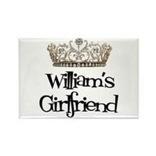 William's Girlfriend Rectangle Magnet