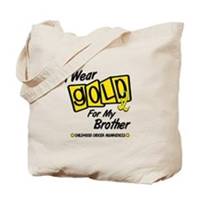 I Wear Gold For My Brother 8 Tote Bag