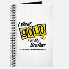 I Wear Gold For My Brother 8 Journal
