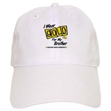 I Wear Gold For My Brother 8 Baseball Cap
