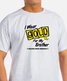 I Wear Gold For My Brother 8 T-Shirt
