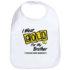 I Wear Gold For My Brother 8 Bib