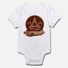 66 Charger Distressed Infant Bodysuit