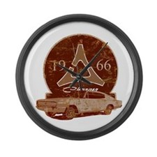 66 Charger Distressed Large Wall Clock