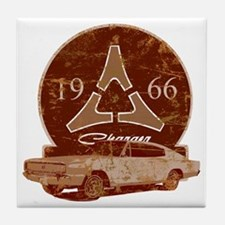 66 Charger Distressed Tile Coaster
