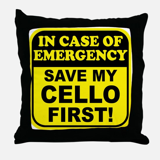 Save My Cello Throw Pillow