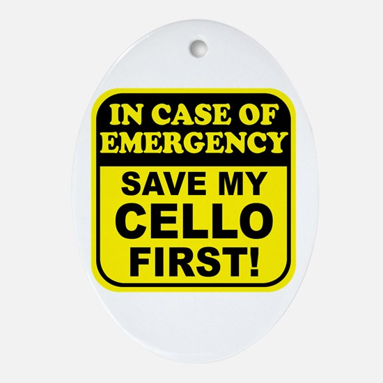Save My Cello Oval Ornament