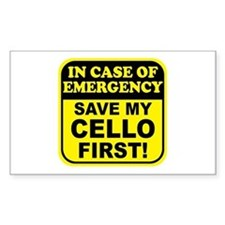 Save My Cello Rectangle Decal