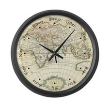 Old World Antique map Large Wall Clock
