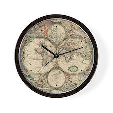 1689 World Map Wall Clock