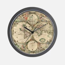 1689 World Map Wall Clock