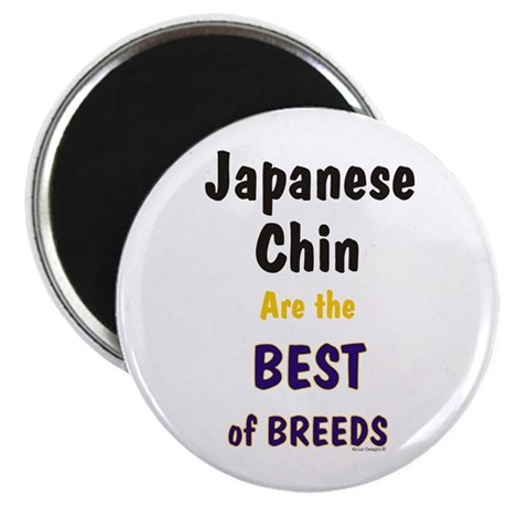 """Japanese Chin Best Breeds 2.25"""" Magnet (100 pack)"""