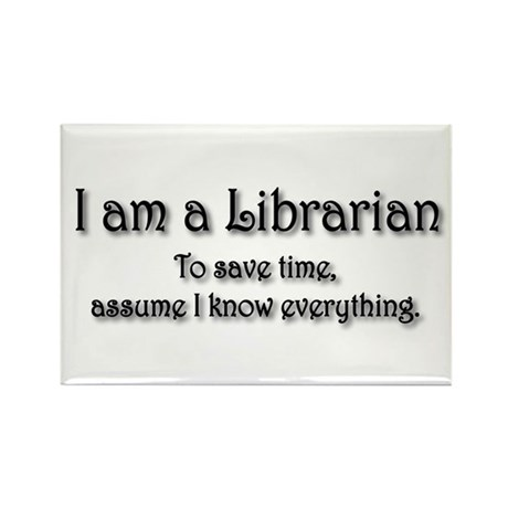 I am a Librarian Rectangle Magnet (10 pack)