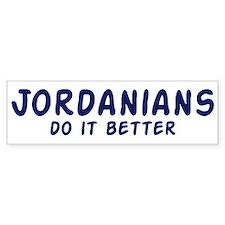 Jordanians do it better Bumper Bumper Sticker