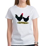 Black Broiler Chickens Women's T-Shirt