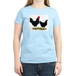 Black Broiler Chickens Women's Light T-Shirt