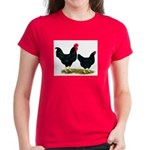 Black Broiler Chickens Women's Dark T-Shirt