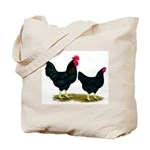 Black Broiler Chickens Tote Bag
